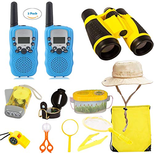 EWsin Outdoor Kit Toys for Kids-Set of 12 Adventure Kid Camping Exploration Toys, Outdoor Explorer Kit for Kids, Camping Toys for Kids, Nature STEM Education for Children, Boys Birthday Gifts by EWsin (Image #8)