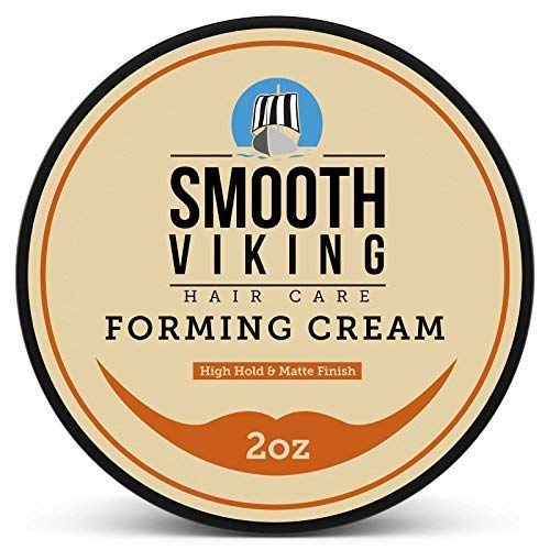Smooth Viking Forming Cream for Men, High Hold and Matte Finish, For Short and Long Hair Types, 2 Ounces (Long Hair Wax)