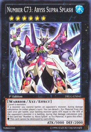 Yu-Gi-Oh! - Number C73: Abyss Supra (DRLG-EN041) - Dragons of Legend - 1st Edition - Super Rare (1st Gi Yu Oh Cards Edition)