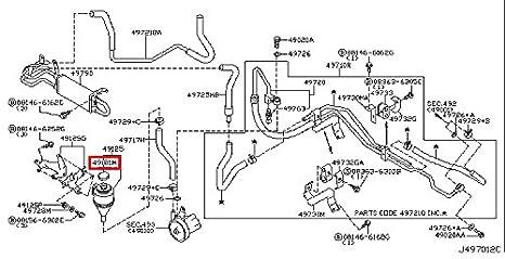 amazon com infiniti genuine power steering piping reservoir tank