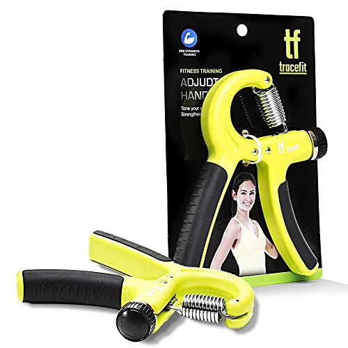 TraceFit Hand Strengthener Adjustable Hand Grip - Exerciser for hand grip and forearm strengthener may be used by men, women and kids.