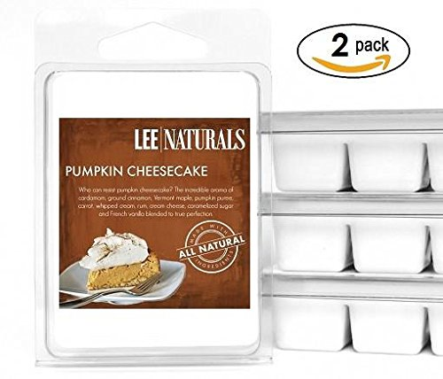 (Lee Naturals Fall - (2 Pack) Pumpkin Cheesecake Premium All Natural 6-Piece Soy Wax Melts. Hand Poured Naturally Strong Scented Soy Wax Cubes)
