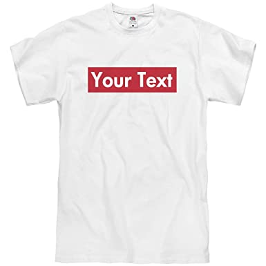 1af2d5ba2591f3 Amazon.com  Custom Supreme Your Text Here Tee  Unisex T-Shirt  Clothing