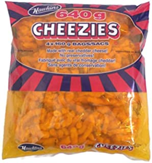 Hawkins 4 X 160g Cheezies Made In Canada 640g