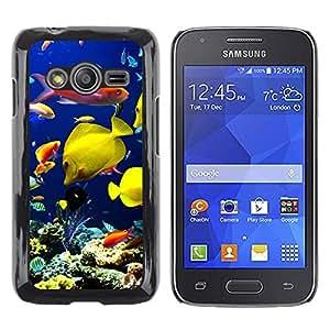 TopCaseStore / la caja del caucho duro de la cubierta de protección de la piel - Underwater Coral Reef Diving Scuba Fish - Samsung Galaxy Ace 4 G313 SM-G313F