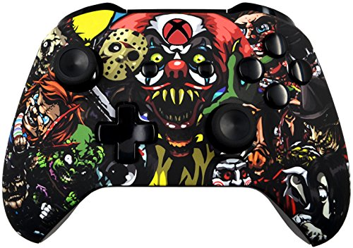 5000+ Modded Xbox One Controller for All Shooter Games - Soft Touch Shell - Added Grip for Longer Gaming Sessions - Multiple Colors Available (Scary Party) (Make Your Own Modded Xbox 360 Controller)