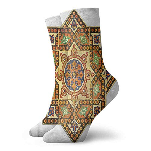 "Socks Ladies Print Arabian,Vintage Floral Pattern 3.4""x11.8"" Funny Socks For Male"