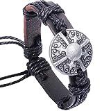Best Baishitop Friend Charm Braclets - Baishitop Unisex Fashion PU Leather Bracelets Retro Pattern Review