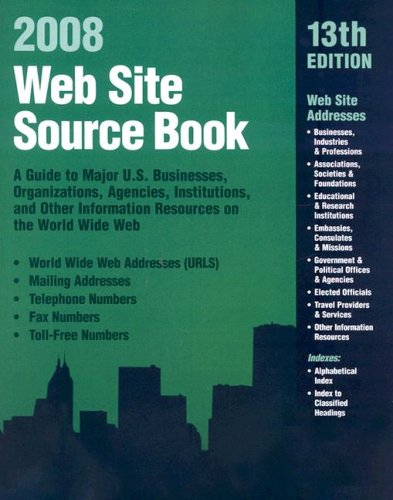 WEB SITE SOURCE BOOK 2008, 13TH ED.