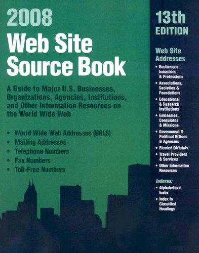 WEB SITE SOURCE BOOK 2008, 13TH ED.