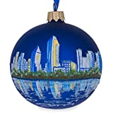 "3.25"" San Diego, California Glass Ball Christmas Ornament"