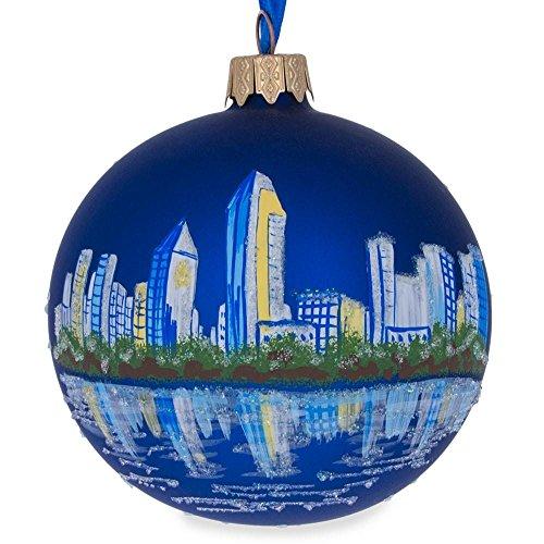 (BestPysanky San Diego, California Glass Ball Christmas Ornament 3.25 Inches)
