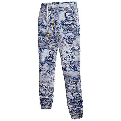 Vintage Florales Sweatpants Sueltos Largos Ocasionales Estampados Lino Deportivos 3d Modernas Verano Joggers Pantalones De Para Hombre Casual nTqTaIZwSH