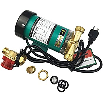 DECFLO 110V 90W 3/4 inch Home Water Pressure Booster Pump, Automatic Shower System Booster Pump with Water Flow Switch for Whole House/Shower
