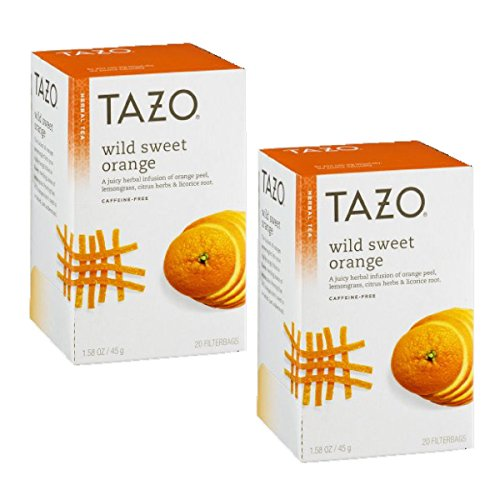 Tazo Wild Sweet Orange Herbal Tea, 20 ct(Pack of 2)