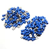 50X Blue 6.3mm14-16 AWG Insulated Male and Female Spade Wire Crimp Terminal