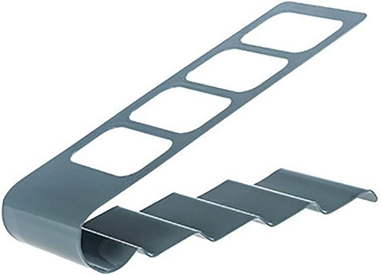 tyrrdtrd 4-Slot Metal Storage Rack TV Remote Sundries Controller Container Organizer Holder Stand White