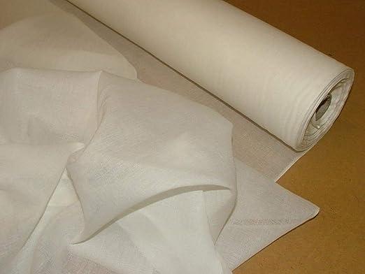 Spacetouch - Tela de muselina blanca 100% algodón puro, 122 cm de ...