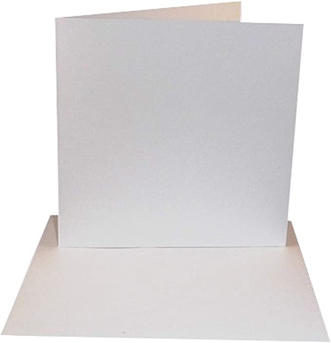 50 Pack - 6x6 White Card Blanks & Envelopes - UK Card Crafts: Amazon.co.uk: Kitchen & Home