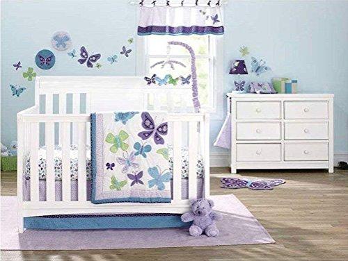 NoJo Beautiful Butterfly 9-Piece Crib Bedding Set by NoJo