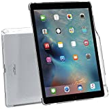 iPad Pro 12.9 Case, Poetic [Clarity Series]-[Keyboard Compatible][Pencil Holder] Stylish Thin TPU Case for iPad Pro 12.9 with Pencil Holder and Apple Smart Keyboard Compatibility Frosted Clear