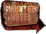 Sunstar Industries Haunted Hotel Metal Halloween Zombie Apacolypse Sign Decoration Horror Prop