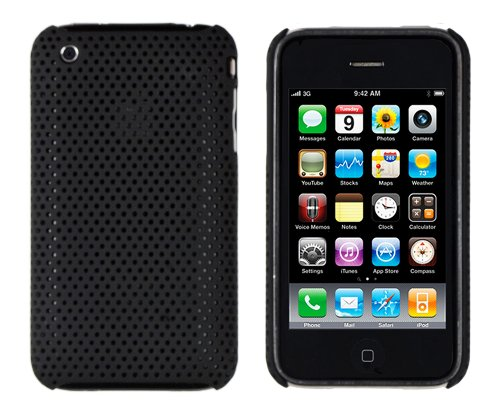 Black Mesh Case for Apple iPhone 3G, 3GS