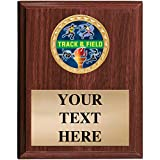 Track & Field Plaques - 5x7 Customized Track and Field Trophy Plaque