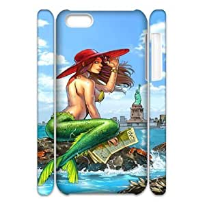 iphone 4/4s iphone 4/4s Little mermaid 3D Art Print Design Phone Back Case Hard Shell Protection FG085391