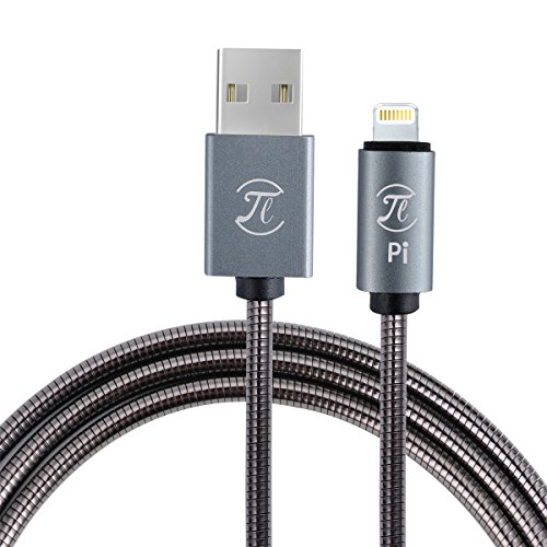 Pi Armor Lightning Apple Cable, 3.0 Quick Charge Cable Military-Grade for iPhone X, 8/8plus, 7/7plus, 6s/6splus, 6/6plus, 5s, 5. Best Selling Cellphone Cable Reinforced with fast charge speed, 1100MM Best-Selling