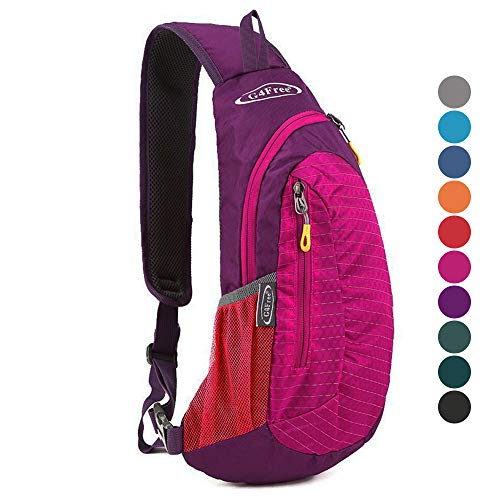 G4Free Multipurpose Daypacks Sling Bags for Women, Casual Cross Body Bag Sling Pack Red Chest Pack for Girls Cycling Travel(Rose)