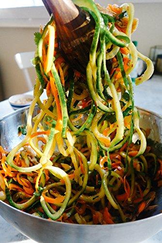 Spiral Slicer Vegetable Zoodle Spiralizer - Veggie Noodle Maker Pasta Cutter - With Kitchen Peeler Bundle by Kitchen Saviors (Image #2)