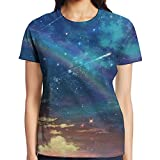 Meteor Shower Women's Classic Graphic Tee Short Sleeve Baseball Tees