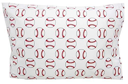 (Toddler Pillowcase 16x20 Home Run Baseballs Kids Bedding )