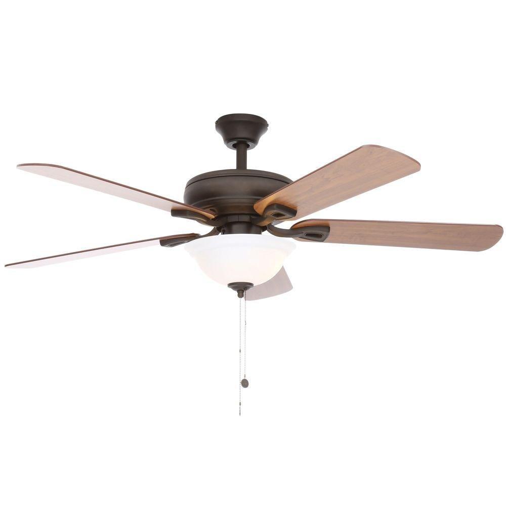Hampton Bay 51564 Rothley 52 '' Indoor Oil-Rubbed Bronze Ceiling Fan w/ Light Kit
