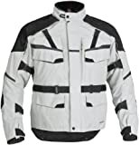 FirstGear Jaunt T2 Men's Waterproof On-Road Motorcycle Jacket - Silver/Black - Tall Medium