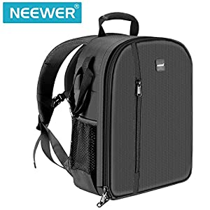 Neewer Professional Camera Case Backpack Bag – Waterproof Shockproof 11.8×5.5×14.6 inches with Tripod Holder and…