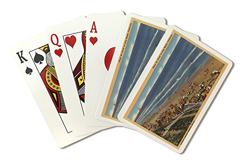 Sunbathers Looking Towards Belmont Shores (Playing Card Deck - 52 Card Poker Size with Jokers)