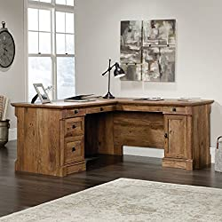 Sauder 420606 Palladia L-Desk Vo A2 Computer, Vintage Oak