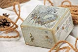 Handmade Square Wooden Jewelry Box In Steampunk Style With Clock Mechanism
