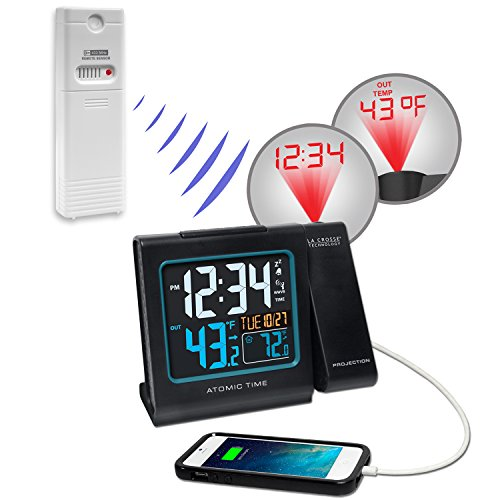 projection alarm clock and weather monitor Shop for projection alarm clocks this one has a geat extra in the remote weather monitor that you the jensen® jcr-235 dual alarm projection clock radio.