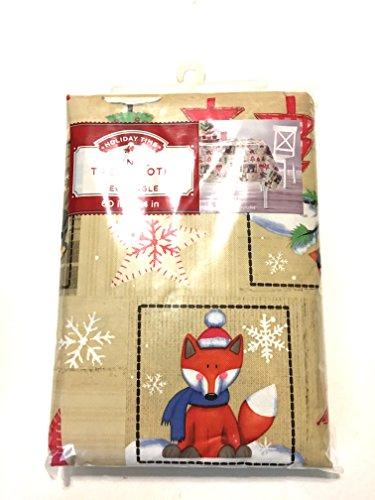 Holiday Patchwork Vinyl Tablecloth (60 X 102 (New Vinyl Tablecloth)