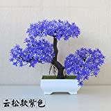LANJIE Simulation Of Plant Pine Potted Flowers Bonsai Tree Grass Ball Home Furnishing Living Room Installed Desktop Decoration Light Green