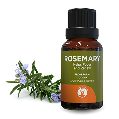 GuruNanda Rosemary Essential Oil - Aromatherapy - GCMS Tested & Verified 100% Pure Essential Oils - Undiluted - Therapeutic Grade -  15 ml
