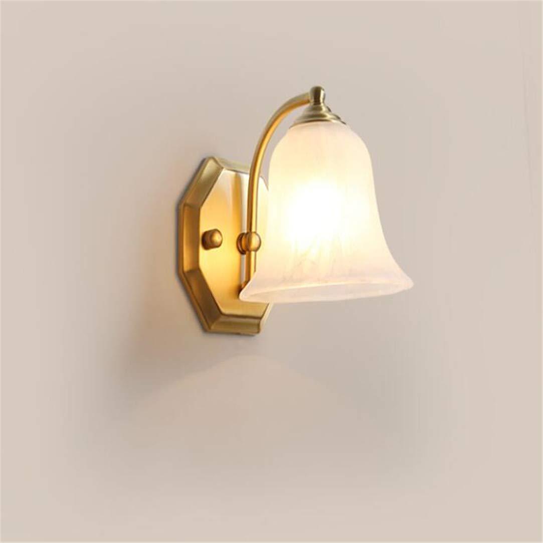 Kronleuchter alle Kupfer amerikanischen Spiegel Scheinwerfer Badezimmer Lampe Bad Lampe Wand Lampe Korridor Lampe Gang Beleuchtung Glas Lampenschirm