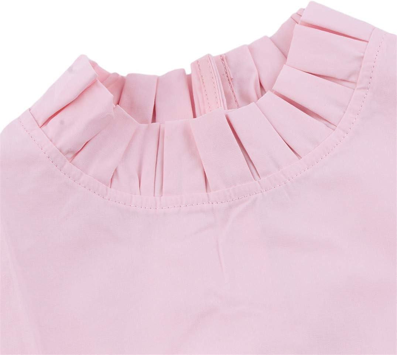 JOOFFF Pleated False Collar Detachable Fake Collars Blouse Half Shirts Elegant Decorative Clothing Accessories For Lady Women Girls,White