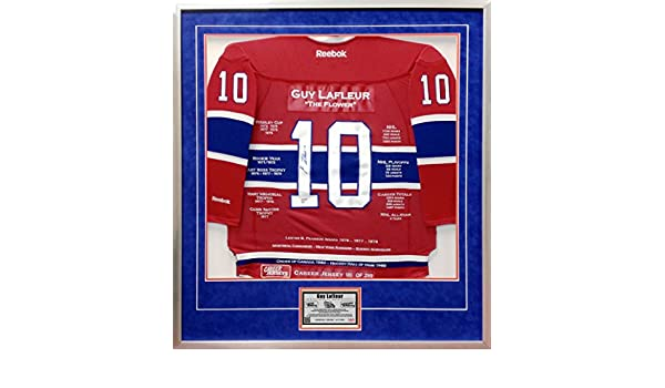 70d6d4f8a Guy Lafleur Framed Career Jersey - Autographed - Ltd Ed 299 - Montreal  Canadiens at Amazon s Sports Collectibles Store