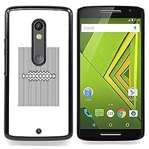- Pattern Lines Black White Viking/ Duro Snap en el tel????fono celular de la cubierta - Cao - For Motorola Verizon DROID MAXX 2 / Moto X Play