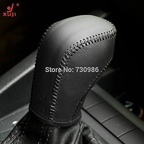 Amazon Com Black Genuine Leather Gear Shift Knob Cover For 2012