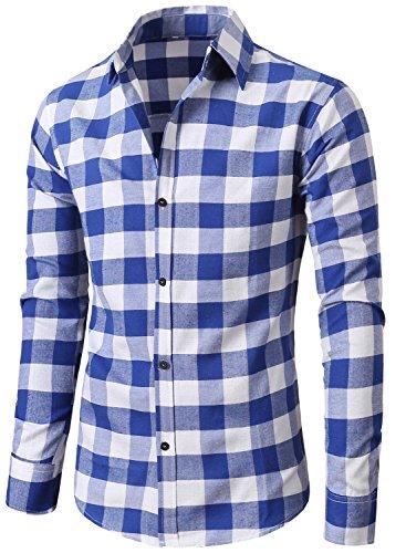 mens 100 cotton dress shirts - 7